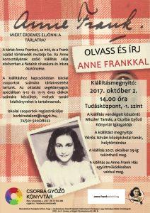 Anne Frank kiállítás a Tudásközpontban